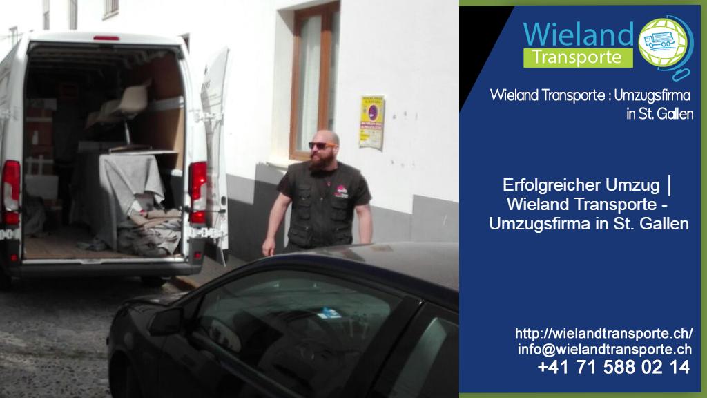 Erfolgreicher Umzug │ Wieland Transporte - Umzugsfirma in St. Gallen