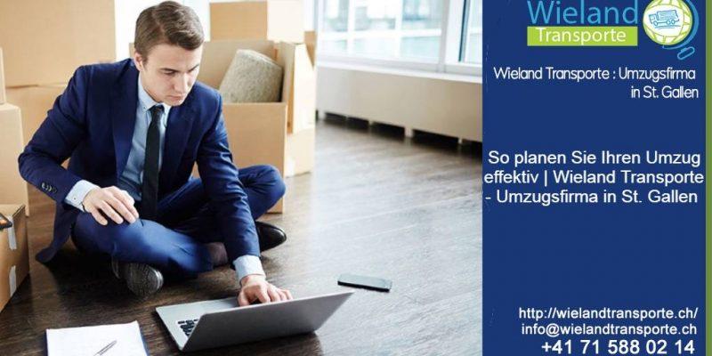 So planen Sie Ihren Umzug effektiv | Wieland Transporte – Umzugsfirma in St. Gallen