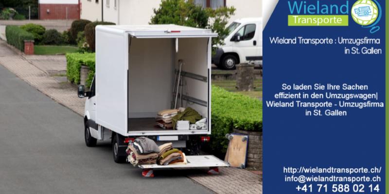 So laden Sie Ihre Sachen effizient in den Umzugswagen| Wieland Transporte - Umzugsfirma in St. Gallen